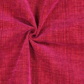 Himalayas - Fuchsia - Fabric blended from polyester, acrylic and viscose in a cherry red colour
