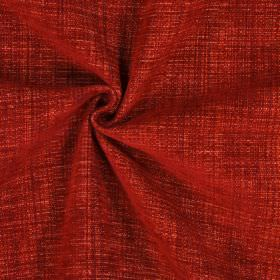 Himalayas - Salsa - Dark red coloured polyester-acrylic-viscose blend fabric
