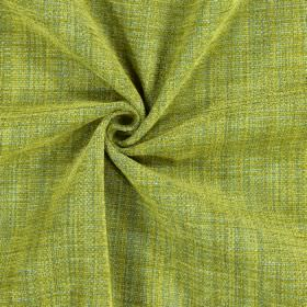 Himalayas - Citron - Fabric made from polyester, acrylic and viscose in mustard yellow and various shades of green