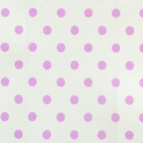 Sixpence - Lavender - White cotton fabric with lilac spot pattern