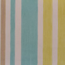 Bali - Duck Egg - Yellow and duck egg blue striped fabric