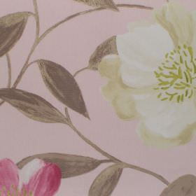 Honolulu - Petal - White and pink floral pattern on light pink fabric