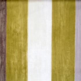 Mika - Moleskin - Moleskin grey and green striped fabric