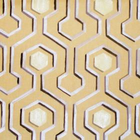 Kayo - Mimosa - Mimosa yellow fabric with modern maze pattern