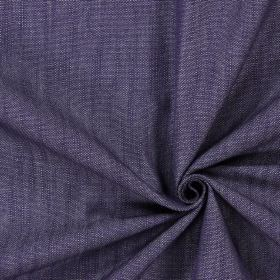 Ontario - Navy - Dark grey coloured cotton fabric which has a slight hint of dark blue