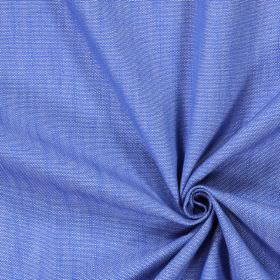 Ontario - Denim - Swatch of plain cobalt blue coloured fabric made from cotton
