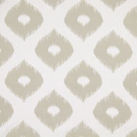 Austin - Stone - White and light grey coloured fabric featuring a design of wide, wavy lines and dots, which all have undefined edges