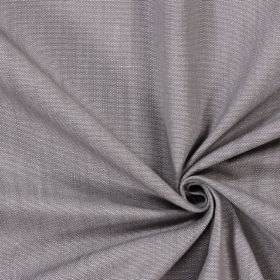 Ontario - Slate - Plain, light grey coloured fabric made from cotton which has been designed with no pattern