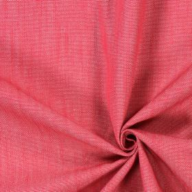 Ontario - Cranberry - Cotton fabric in a plain, flat rose pink colour