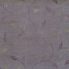 Allure - Lavender - Lavender purple foliage and vine pattern on purple fabric