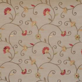 Captivate - Antique - Sandy fabric with antique yellow country floral pattern