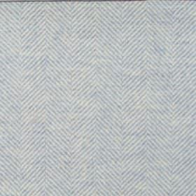 Orkney - Azure - Plain azure blue fabric with herringbone pattern