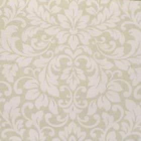 Carlotti - Natural - Fabric made from cotton, with a subtle design of leafy swirls in pale shades of beige and cream-grey