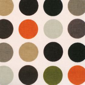 Great Spot - Caramel - Cream cotton fabric with large red beige brown and orange spots