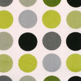 Great Spot - Kiwi - Cream cotton fabric with large grey brown and green spots