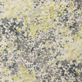 Confetti - Chestnut - Modern fabric with grey and green spots