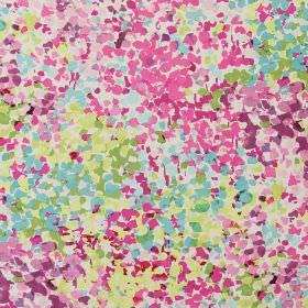 Confetti - Orchid - Modern fabric with orchid pink and green spots
