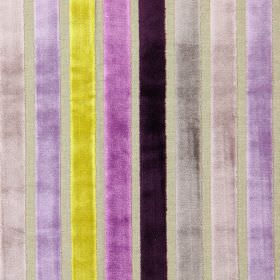 Trapeze - Mulberry - Mulberry purple and sandy modern striped fabric