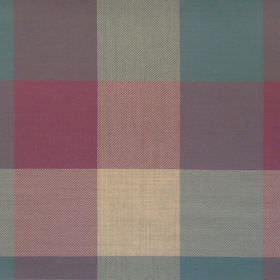 Beatrice - Heliotrope - Heliotrope purple and blue checked fabric
