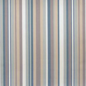 Diana - Denim - Denim blue and grey striped fabric
