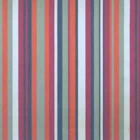 Diana - Spice - Spice red and blue striped fabric