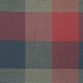 Beatrice - Spice - Blue and spice red checked fabric