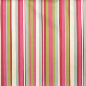 Diana - Rose - Rose pink and green striped fabric