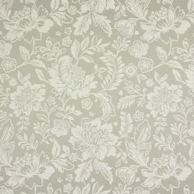 Sara - Stone - Very subtle floral patterns on grey-beige coloured fabric made from a combination of cotton and polyester