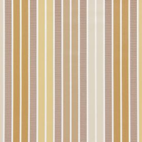 Garda - Honey - Different shades of brown, gold and cream making up a repeated vertical stripe pattern on this fabric made from cotton