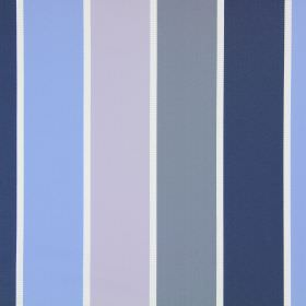 Lecco - Porcelain - Cotton fabric with white stripes between grey, navy blue, light blue and baby pink stripes