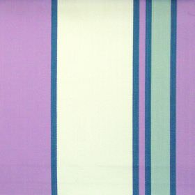 Nootka - Amethyst - Wide amethyst purple and narrow blue striped fabric