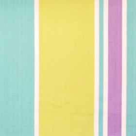 Nootka - Foxglove - Wide turqoise and narrow white striped fabric