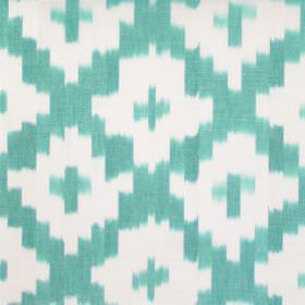 Karok - Teal - Teal cross-hatched fabric