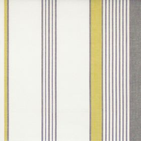 Taino - Olive - Olive green and grey narrow and wide stripes on white fabric