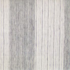 Hopi - Onyx - Onyx black and white striped fabric