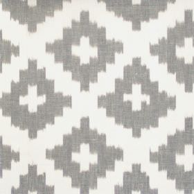 Karok - Lead - Lead grey cross-hatched fabric