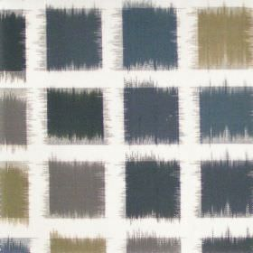 Lakota - Onyx - Onyx black squares on white fabric