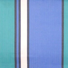 Nootka - Cobalt - Wide cobalt blue and narrow black striped fabric