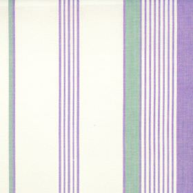 Taino - Amethyst - Amethyst purple narrow and wide stripes on white fabric