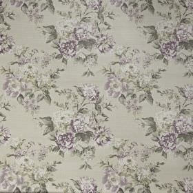 Bowland - Hydrangea - Fabric made from 100% cotton, with a pretty floral pattern in light shades of grey, white and some subtle lilac