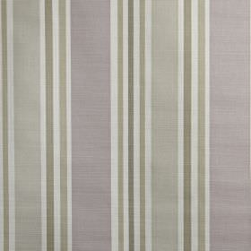 Calder - Hydrangea - 100% cotton fabric featuring a vertical stripe design in white, lilac and several similar light shades of grey