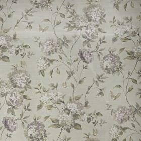 Abbeystead - Hydrangea - 100% cotton fabric featuring a subtle but realistic floral pattern inwhite and various shades of grey