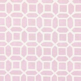 Bromley - Dusky Rose - Dusky rose fabric with modern design of geometric bodies