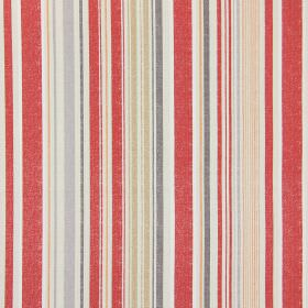 Edgerton - Autumn - Autumn red striped fabric