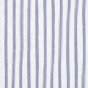 Cable - Larkspur - A simple mauve and white striped pattern on cotton fabric