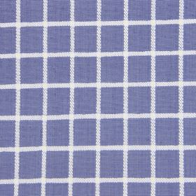 Chain - Larkspur - A simple white grid on a blue-purple cotton fabric backgroud