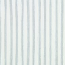 Cable - Mist - Very pale blue-grey stripes on a white cotton fabric background