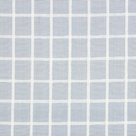 Chain - Mist - Fabric made from pale grey cotton, with a simple white grid printed on top