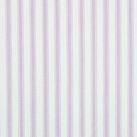 Cable - Lavender - Light lilac and white stripes on cotton fabric