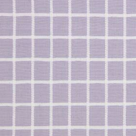 Chain - Lavender - Light purple cotton fabric covered in a simple white grid